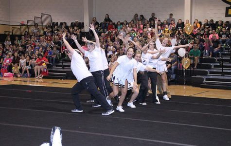 The Savage Steppers perform at the pep rally on September 2.