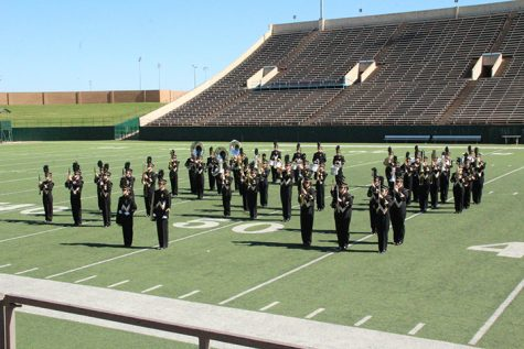 Band at Memorial Stadium