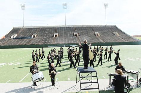 Band participates in Iowa Park, Memorial Stadium Festivals
