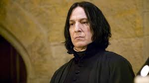 Alan Rickman in character as Severus Snape in the
