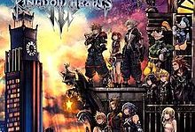 The cover photo for all of the cases to Kingdom Hearts III.