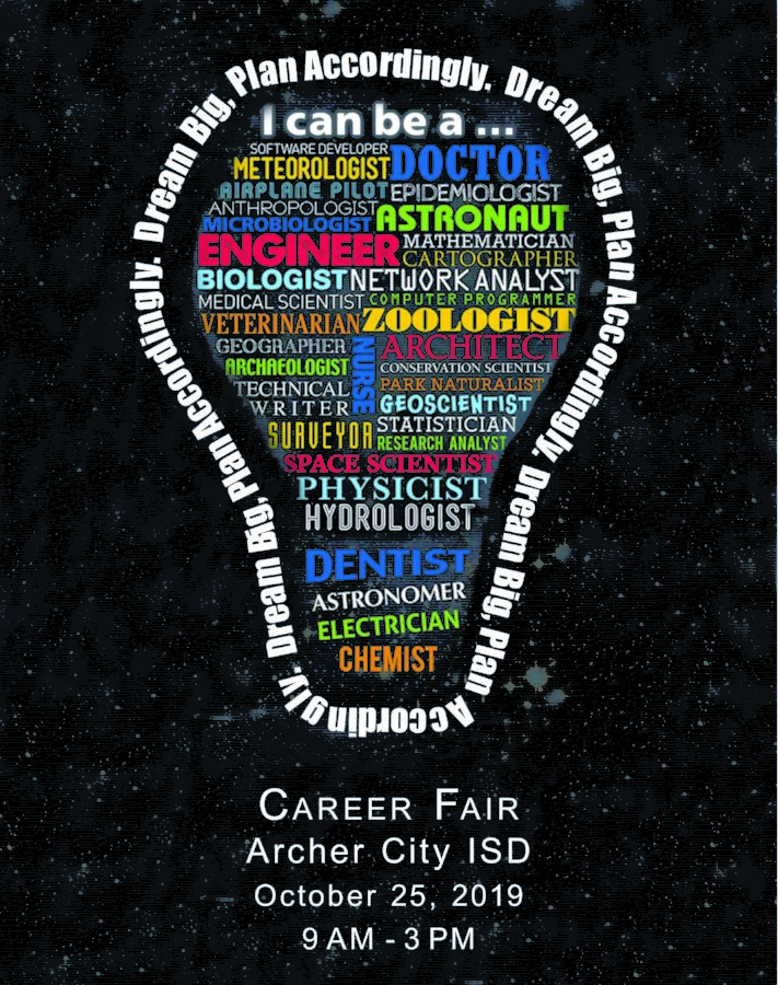 Graphic used to promote the career fair.